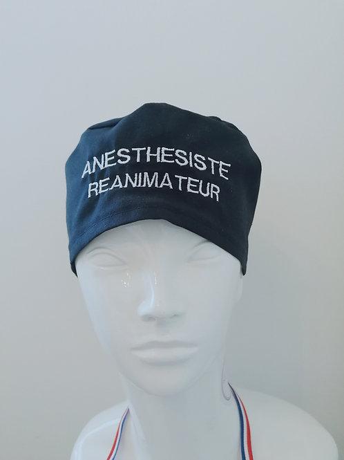 Calot de Bloc Anesthesiste Réanimateur bleu marine