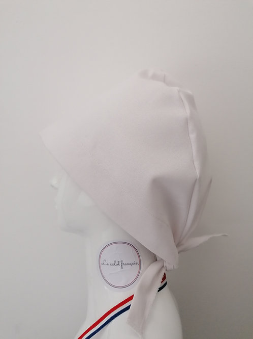 Calot Uni Blanc | Le Calot Français | Fabriqué en France