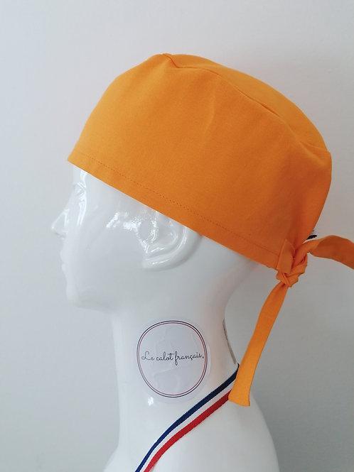Calot Uni Orange | Le Calot Français | Fabriqué en France