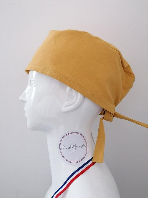 Calot Uni Moutarde | Le Calot Français | Fabriqué en France