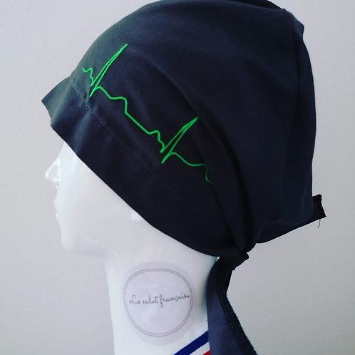 Calot-anesthesiste-vert (tissu noir)