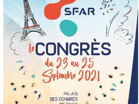 CONGRES SFAR PALAIS DES CONGRES PARIS 23-25 SEPTEMBRE 2021