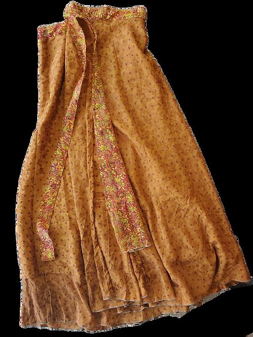 Fast Gorilla Multi-Use Skirt, Marigold yellow print