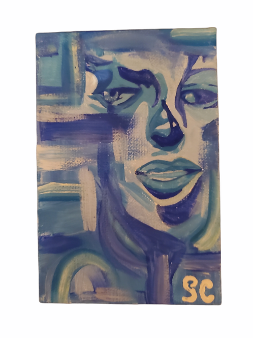 """4"""" x 6"""" acrylic with stand - Twisted Series, Smile"""