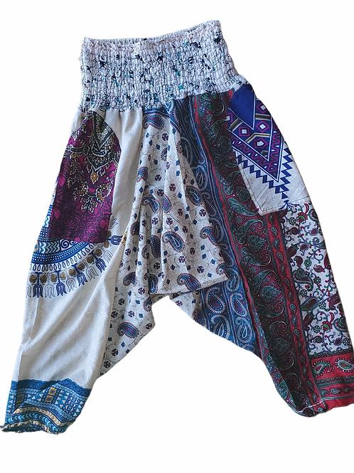 Fast Gorilla Vintage Harem Pants - Purple Pasley