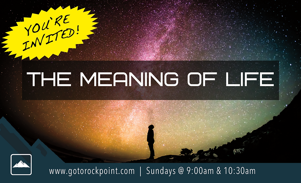 The Meaning of Life Front 3inx5in w blee