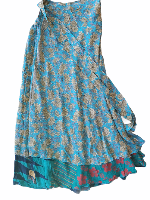 Fast Gorilla Multi-Use Skirt, Blue Floral Print