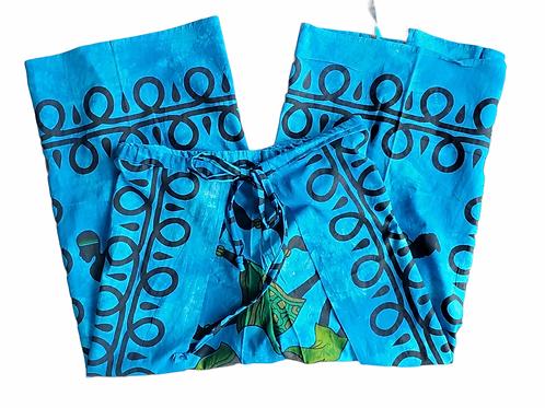 Original Wrap Pants - Blue African Dance