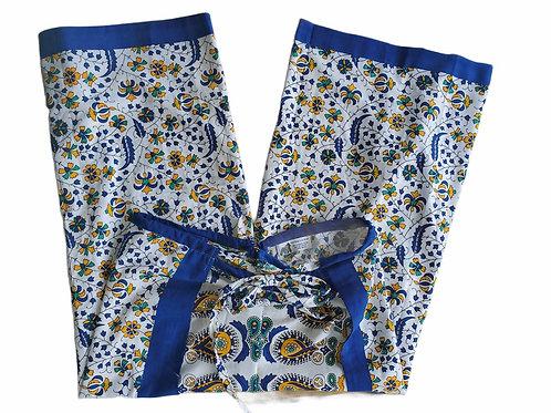 Original Wrap Pants - Blue and Yellow Mandala