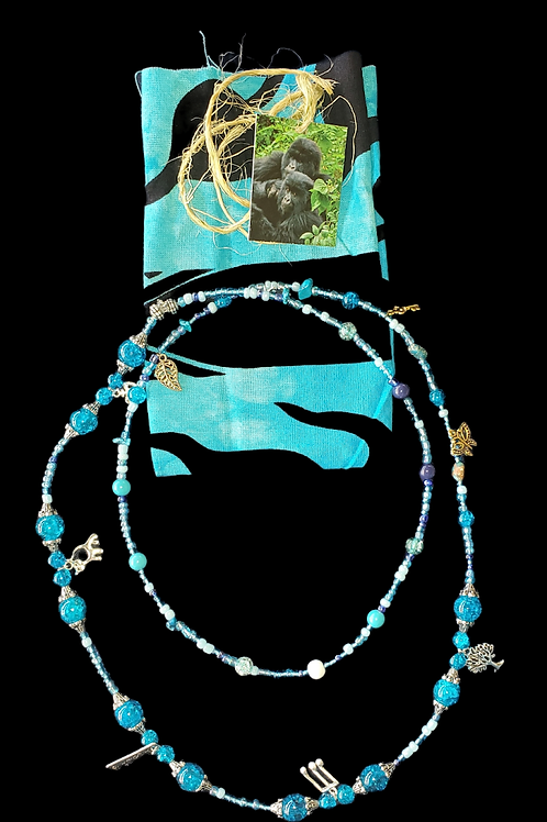 Fast Gorilla  Love Beads Sky Blue