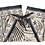 Thumbnail: Original Wrap Pants - Black and Cream, Stars