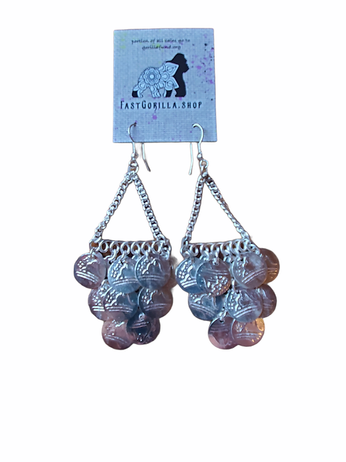 Fast Gorilla  Earrings With Coins