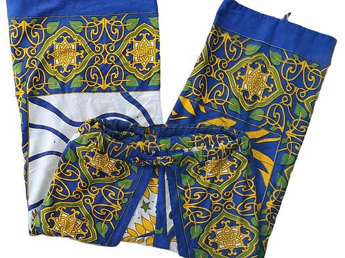 Original Wrap Pants - Blue and Gold Tree