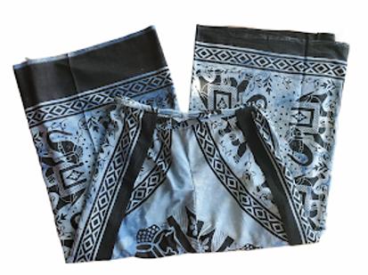 Original Wrap Pants - Blue and Elephant