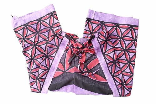 Original Wrap Pants -Purple and Red, Geometric Floral