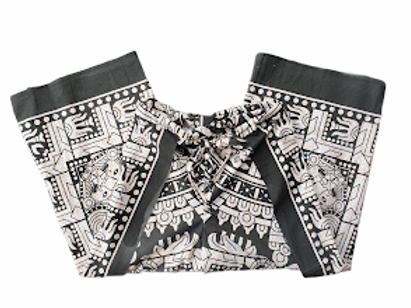 Original Wrap Pants - Black and Cream, Mayan