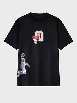 Spaceman Dunking Graphic Tee