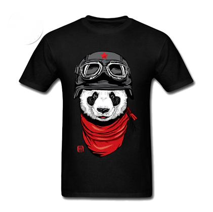 Panda Rider Men's Graphic Tee