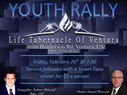 flyer for youth rally
