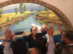 Sis. Priscilla getting baptized