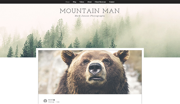 Photographie website templates – Blog Photographie