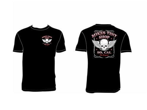 MTS BLACK T- Shirt ( White skull )