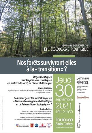 """""""Nos forêts survivront-elles à la """"transition?"""""""