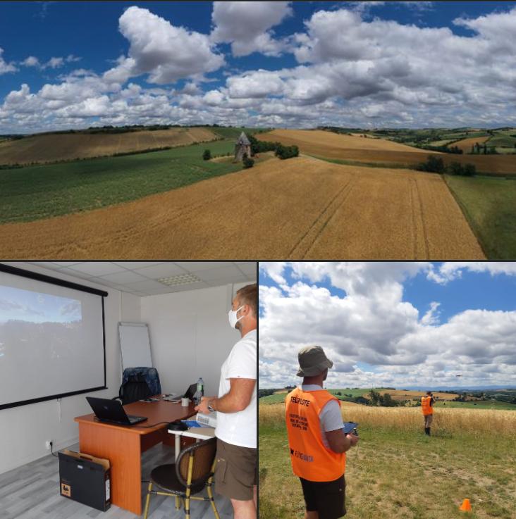 Vue du paysage depuis le drone, vue des séances de formation