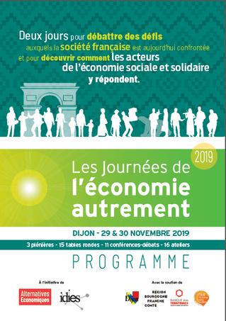 Les Journées de l'économie autrement à Dijon le 29 & 30 Novembre