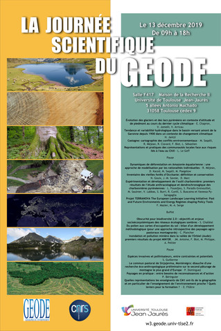 La journée scientifique du GEODE