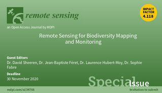 """Special Issue """"Remote Sensing for Biodiversity Mapping and Monitoring"""""""