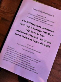 Les Mobilisations Collectives pour l'Agro-Ecologie (MCAE) à l'épreuve de leur opérationnalisation