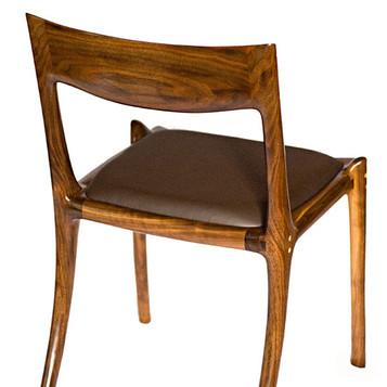 Walnut Low-back Tea Chair