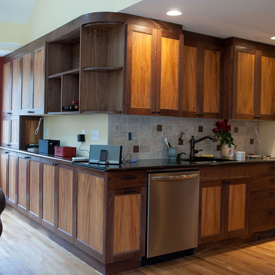 Walnut and Sycamore Kitchen