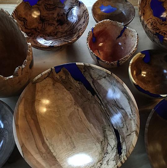Ultramarine Blue Inlay Bowls