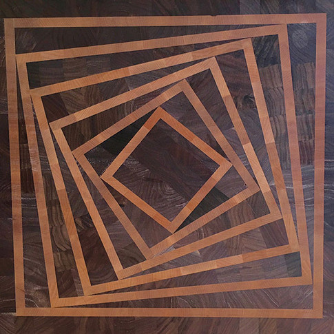 Spinning Squares End-grain Cutting Board