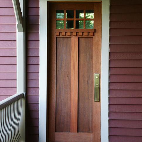 Arts and Crafts Mahonany Door