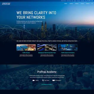 Profitap Homepage - Dark Mode