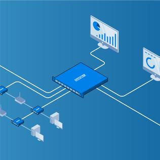 Network Packet Brokers Isometric Diagram