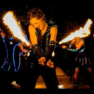 Feuershows und Lichtfeuerwerke