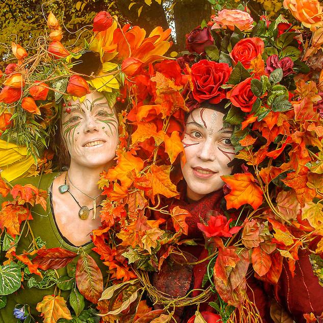 Herbstfee und Waldfee