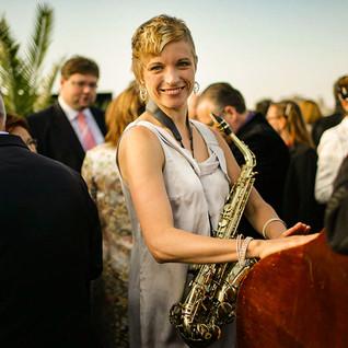Die Saxophonfrau