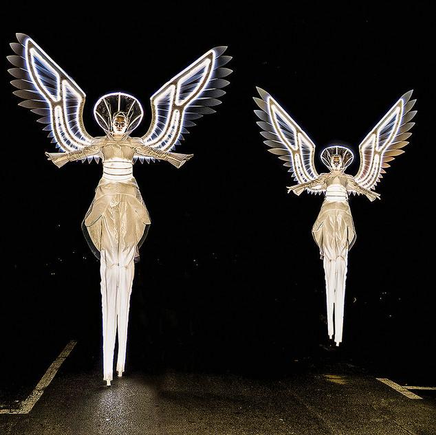 Leuchtende Engel