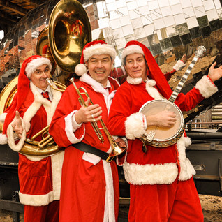 Marching Santas