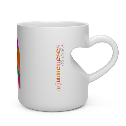 Summer Love Heart Shape Mug