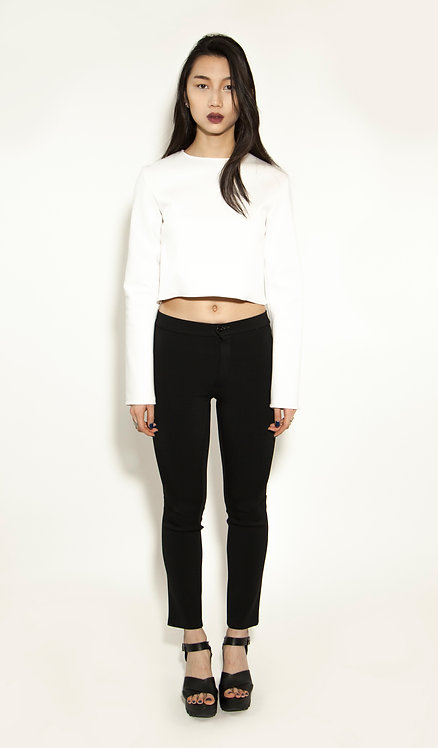Cropped top blanc