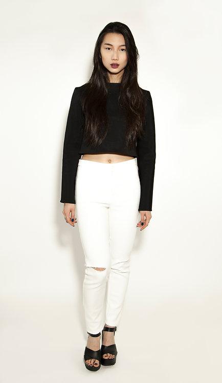 Pantalon slim blanc