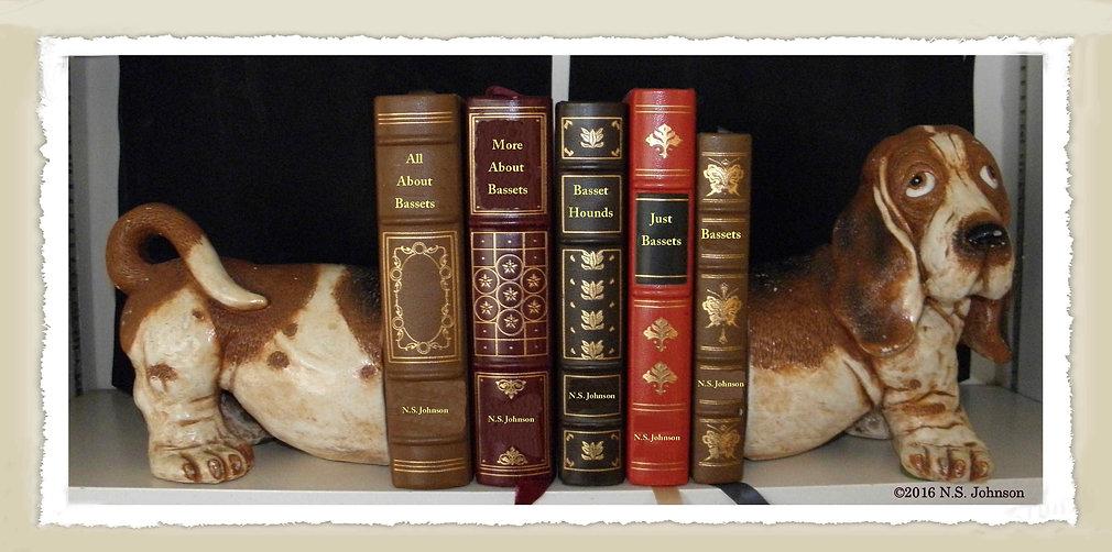 Literary Basset bookshelf