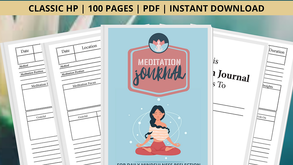 Meditation Journal For Daily Mindfulness Practice Logs  meditation journal gifts