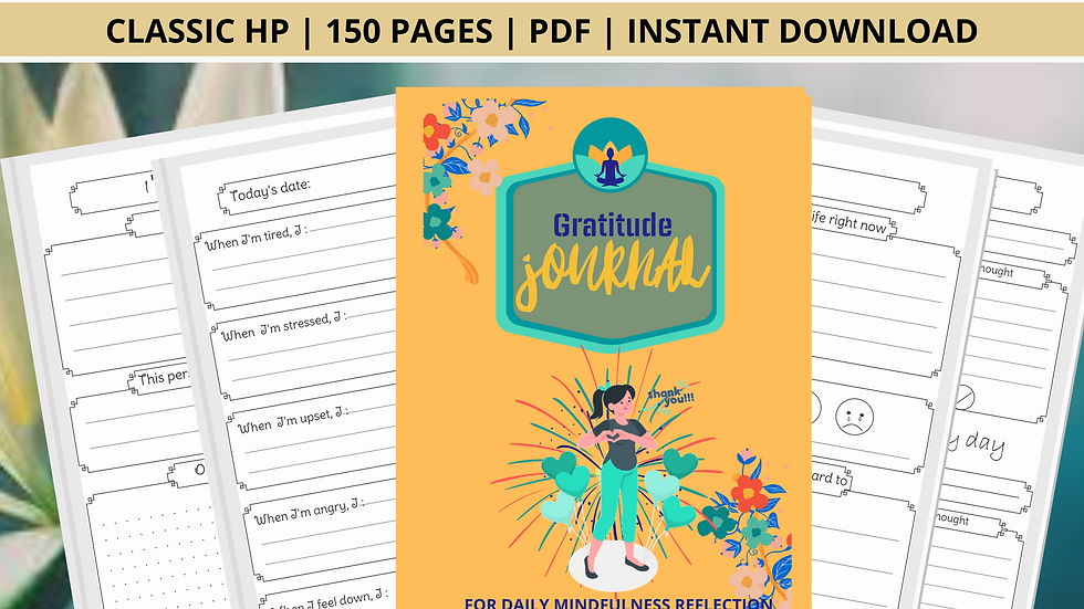 Gratitude Journal | Mindfulness Journal | To do list | Calender | Journaling | M